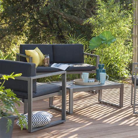 Salon de jardin Aluwood NATERIAL | Leroy Merlin