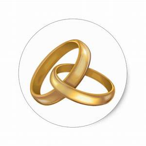 Gold wedding rings intertwined classic round sticker zazzle for Wedding rings intertwined
