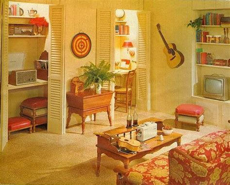 Groovy Interiors 1965 And 1974 Home Décor: 81 Best 60-70's Teenager's Bedroom Images On Pinterest