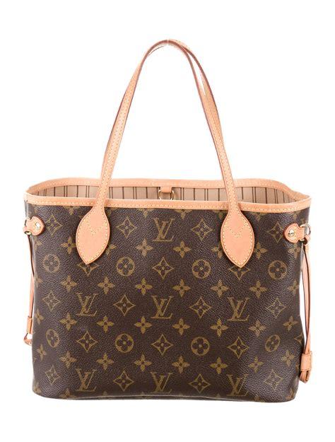 louis vuitton monogram neverfull pm handbags lou  realreal