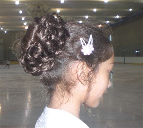 how to wear your hair for figure skating