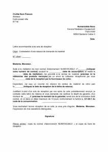 Modele De Lettre De Relance : lettre de contestation d 39 une relance de retour de mat riel par num ricable d codeur mod le de ~ Gottalentnigeria.com Avis de Voitures