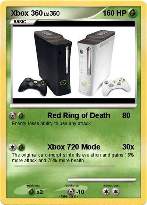 pokemon xbox    red ring  death  pokemon card