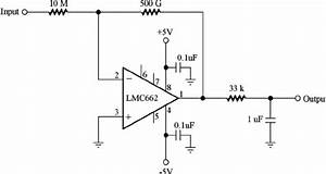 Schematic Diagram Of An Electrometer Circuit