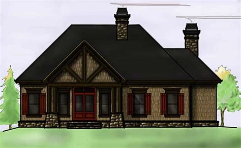 story rustic lake house plan  max fulbright designs
