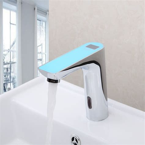 motion sensor kitchen sink faucet romo motion sensor faucet digital display touchless faucet 9313
