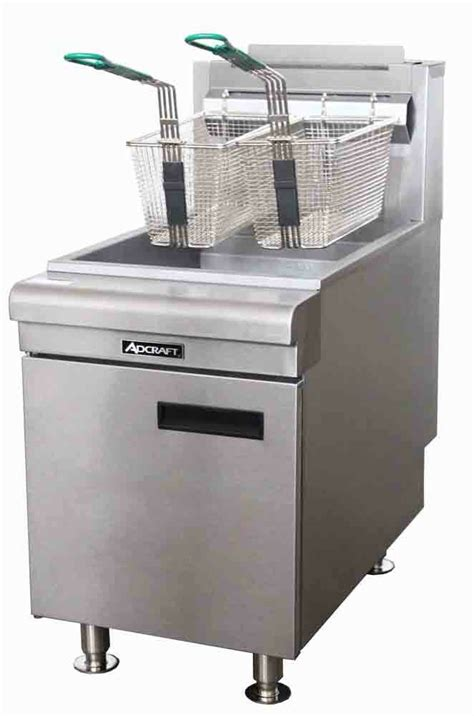 fryer deep commercial gas countertop heavy duty natural adcraft propane lpg ctf 40lb ng