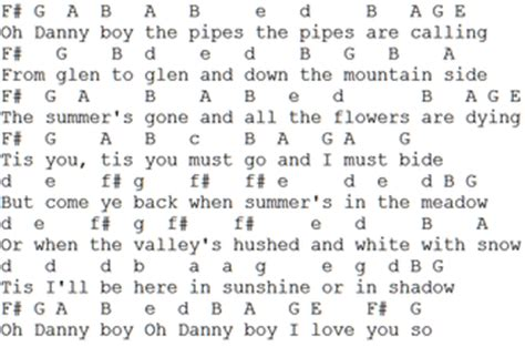danny boy sheet   tin whistle notes irish folk songs