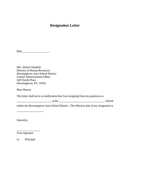 Short Resignation Letter. Free Resignation Letter Examples – A Collection of Templates and Tips