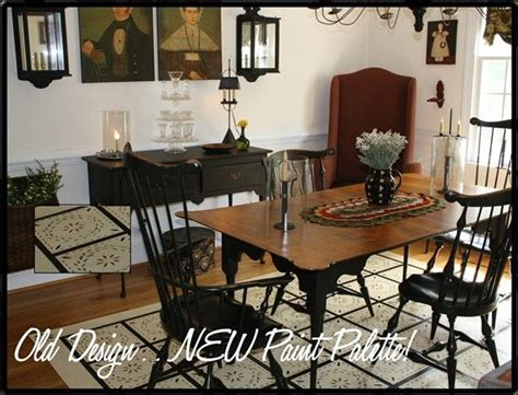 images  primitive dining rooms  pinterest pewter table  chairs  colonial home decor