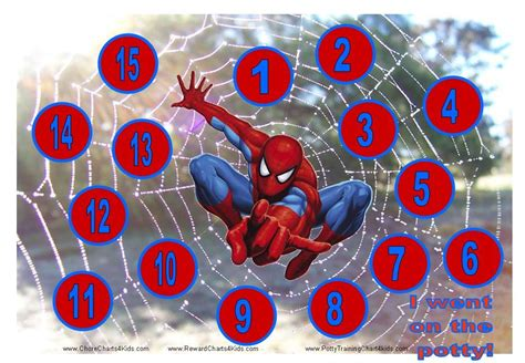 spiderman potty training chart parenting reward chart
