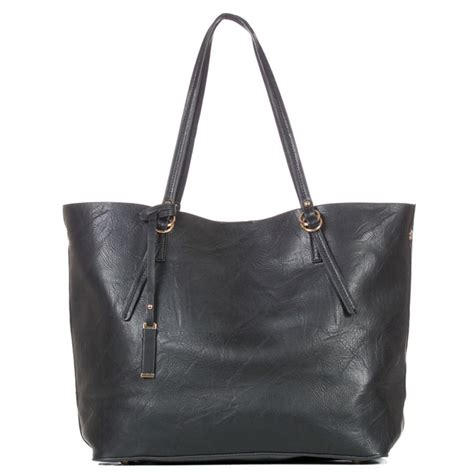 faux leather tote bag monogram personalized