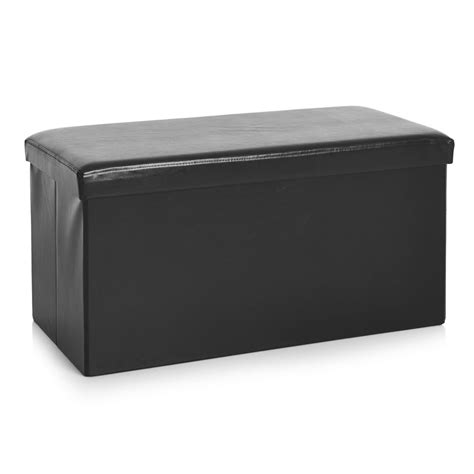 your zone gaming storage ottoman black wilko faux leather storage ottoman black at wilko com