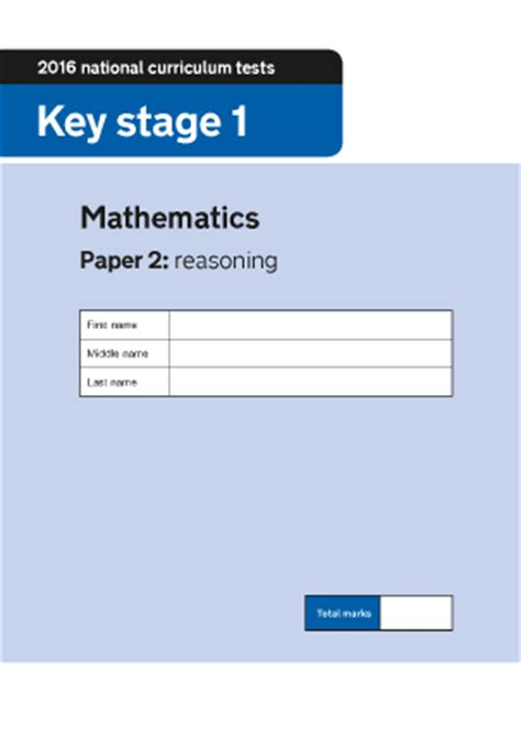 ks mathematics paper  reasoning ks maths sats  papers  urbrainycom