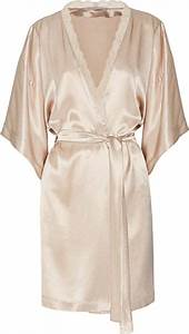 stella mccartney clara whispering silk satin robe in pink With stella mccartney robe