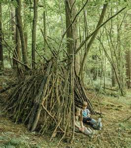 Fort Building Ideas in the Woods