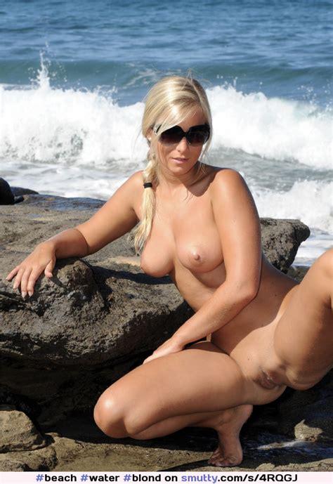 Beach Water Blond Sunglasses Spread Smutty Com