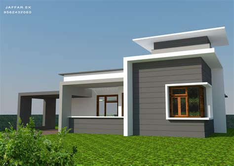 1125 sq ft single floor contemporary home design home