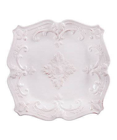 fancy scroll square salad plate  perfect zulilyfinds salad plates plates decor