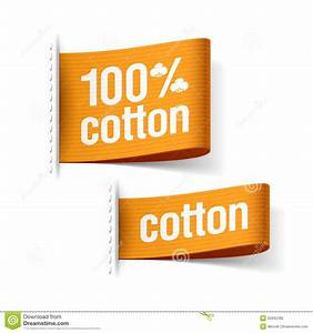 100 cotton product stock photo image of promotion for Clothing product labels