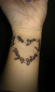 Heart Of Words Tattoo Picture On Hand - TattooMagz