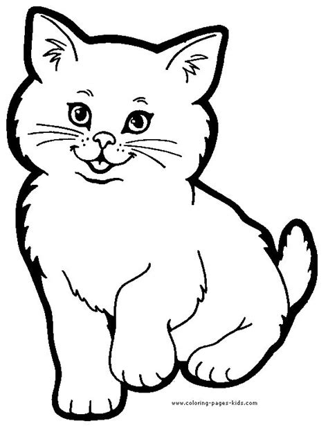 cat color page animal coloring pages color plate