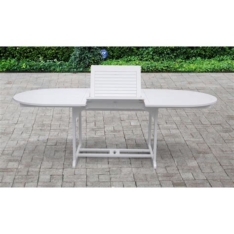 bradley outdoor wood oval extension table 231974 patio