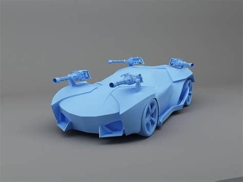 fighter car  print ready model  model  printable
