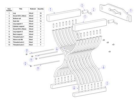 medieval chair plan