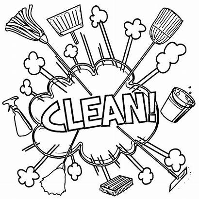 Coloring Cleaning Pages Drawing Rigor Printable Getdrawings
