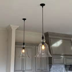glass pendant lights for kitchen island above kitchen counter large glass bell hanging pendant lights lighting pendantlights
