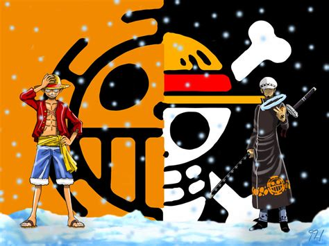 Monkey D. Luffy Trafalgar Law One Piece By Furkanholmes On