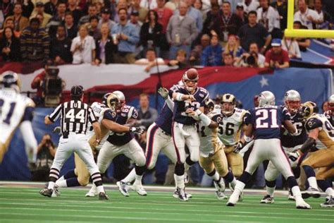 New England Qb Tom Brady Super Bowl Xxxvi Pictures