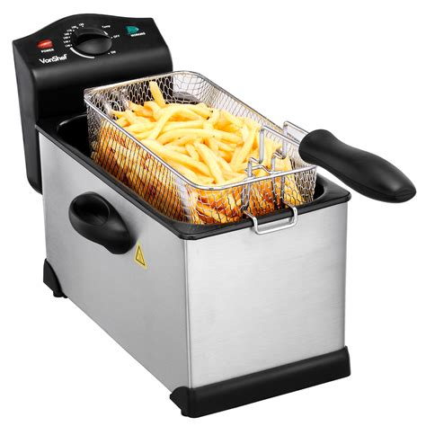 fryer deep fat chip pan stainless steel litre fry 3l basket frying vonshef totally pro fryers 2000w stick clean easy