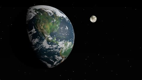 Earth and Moon - Pics about space