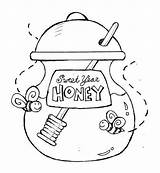 Honey Coloring Jar Sweet Eve Years Party Pages Sketch Template sketch template