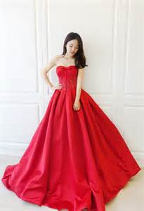 dress pictures 愛情蔓延 精緻婚紗 feelingimage 薔薇紅緞面晚禮服