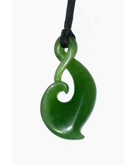 jade single twist pendant mm
