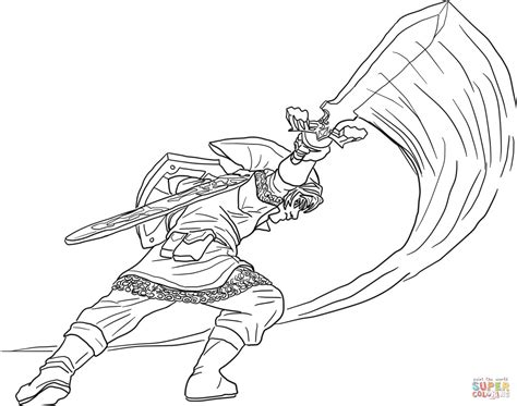 The Legend Of Zelda Skyward Sword Coloring Page