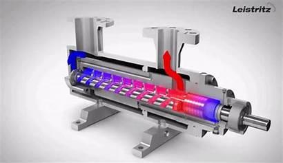 Pumps Leistritz Screw Pump Animation Triple Operation