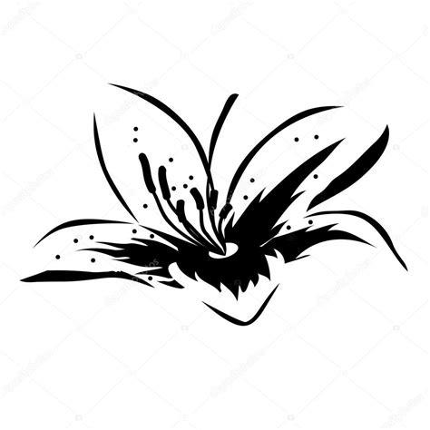 schwarze lilie blume schwarz wei 223 blume stockvektor 169 nurrka 4433335