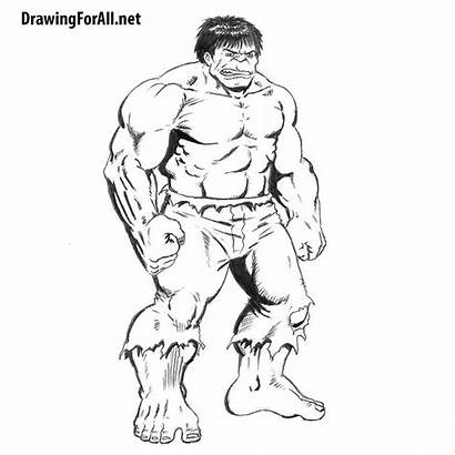 Hulk Draw Incredible Classic Drawing Paint Sketch
