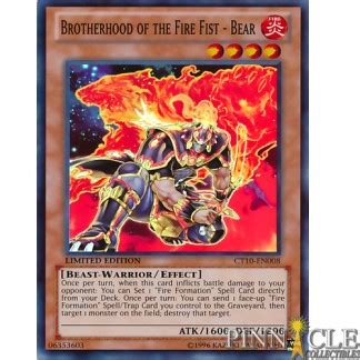 yu gi oh brotherhood of the fire fist bear ct10 en008