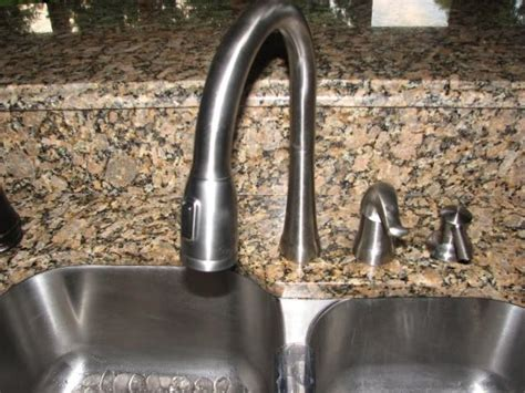 faucet placement for kitchen sink so that is how you get the 60 40 sink to still look