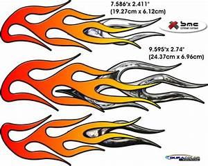 Motorcycle Bike Flame Decal Kit 1