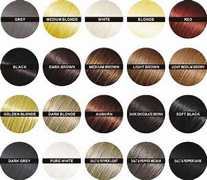 Finally Hair Color Chart - Brown Black Blonde Auburn Grey ...