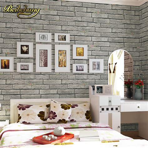 beibehang wall paper pune vintage yellow brick paved