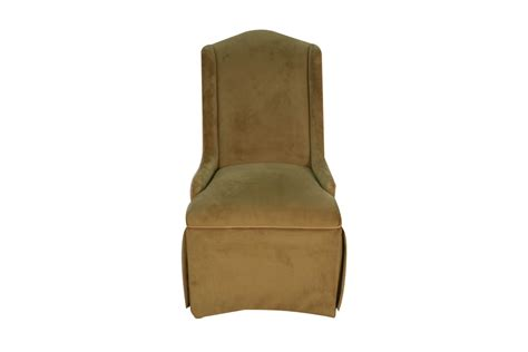 Four Upholstered Parson Accent Dining Chairs