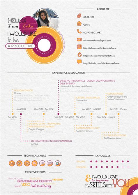 11298 creative resume designs graphic designers 30 exles of creative graphic design resumes infographics
