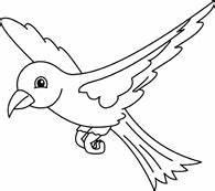 Bird Clipart Black And White - ClipartXtras